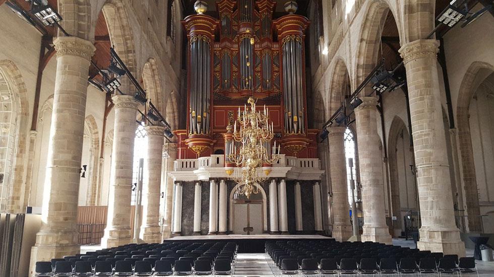 Bên trong giáo hội Sint Laurenskerk- Du lịch Hà Lan