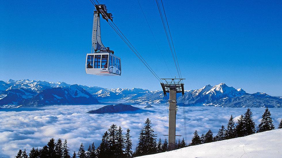 Cáp treo lên đỉnh Titlis - Du lịch Thụy Sĩ