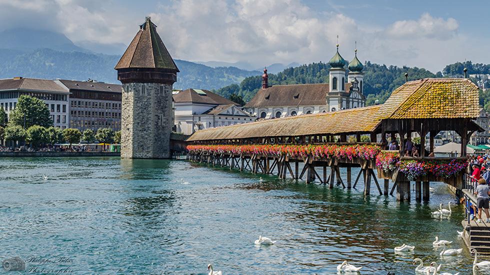 Cầu Chapel Lucerne - Tour Thụy Sĩ giá rẻ