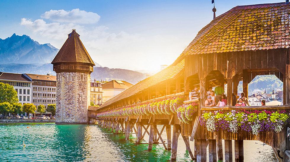 Cây cầu Chapel - Du lịch Thụy Sĩ