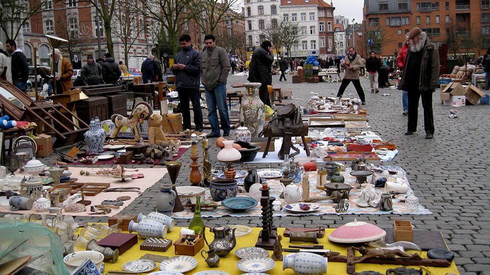 Chợ đồ cổ Brussels - Du lịch Bỉ