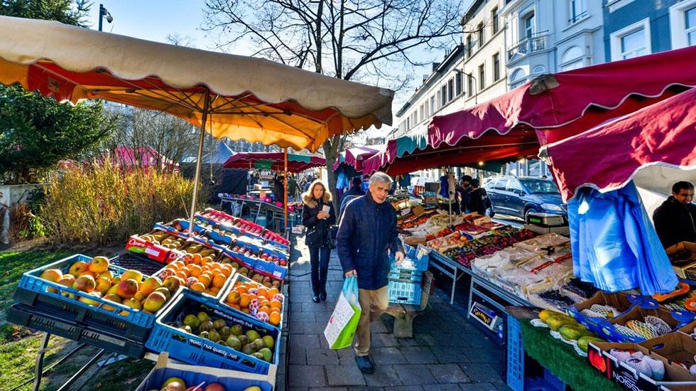 Chợ trời Brussels - Du lịch Bỉ