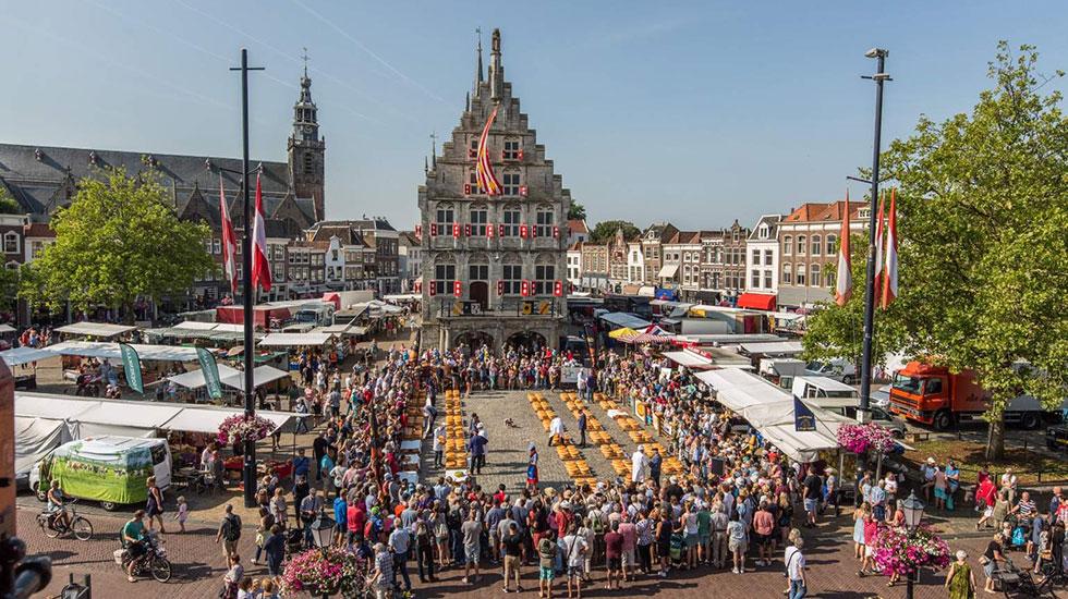 Chợ trời Phomai Gouda - Du lịch Hà Lan