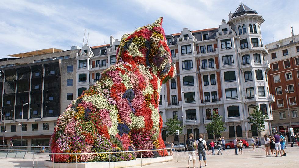 Chú-chó-Puppy-Bilbao - Tour Du Lịch Tây Ban Nha