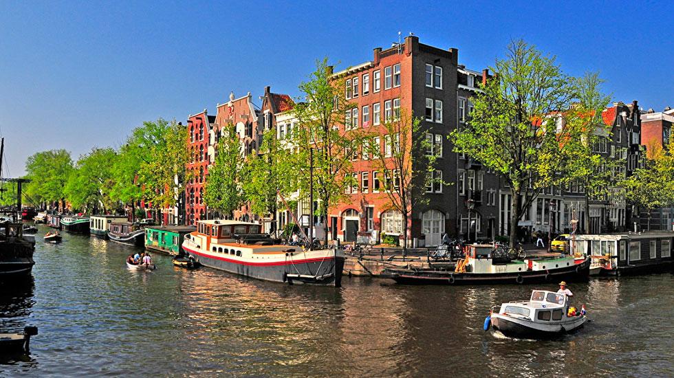 Du thuyền trên sống Amstel - Du lịch Hà Lan