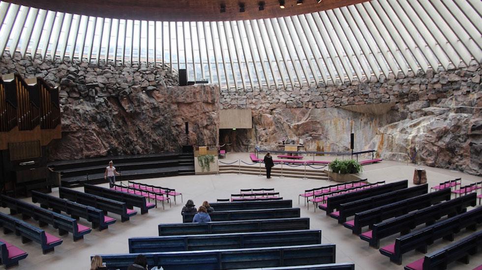 Nhà thờ đá Temppeliaukio - Tour Du Lịch Phần Lan