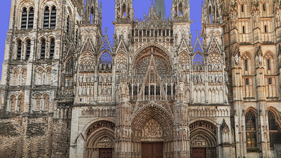 Nhà-thờ-đức-bà-Rouen - Tour Du Lịch Pháp