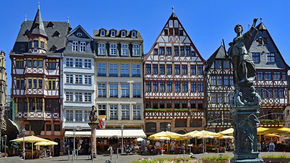 Phố cổ Frankfurt - Du lich Đức