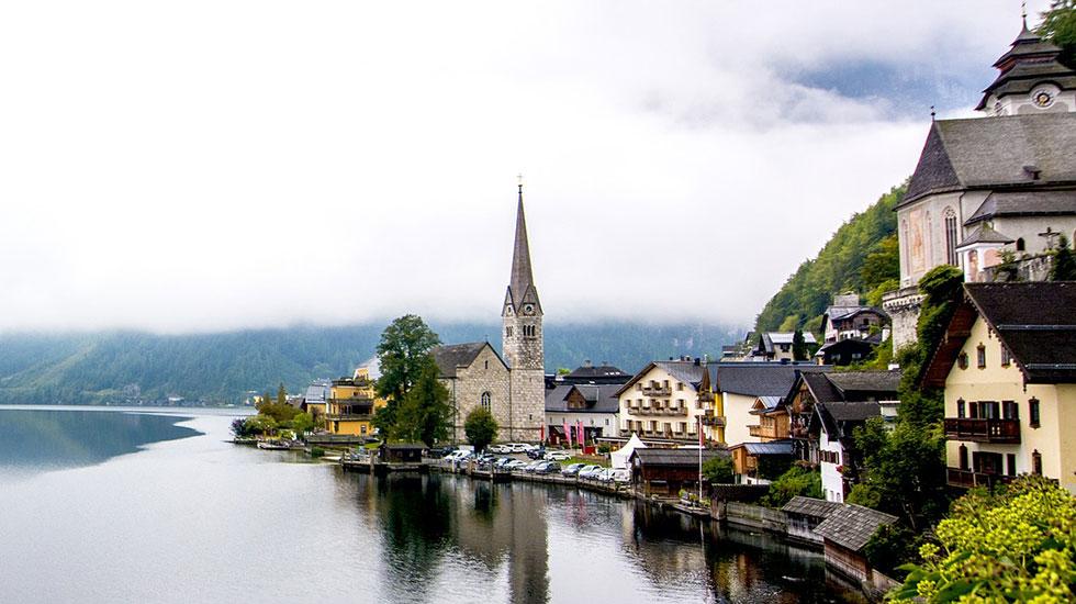 Phố cổ HallStatt - Du lịch Áo