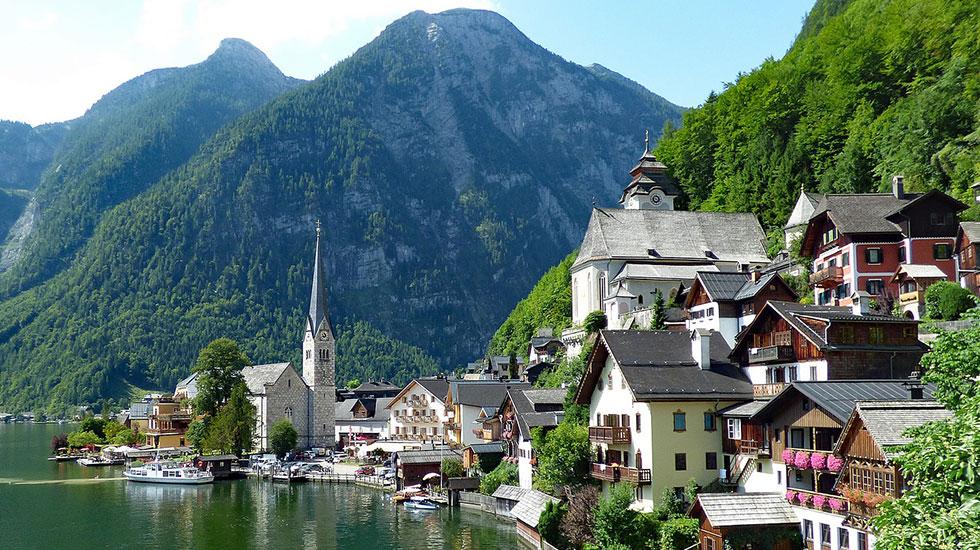 Phố cổ Hallstatt-Du lịch Áo