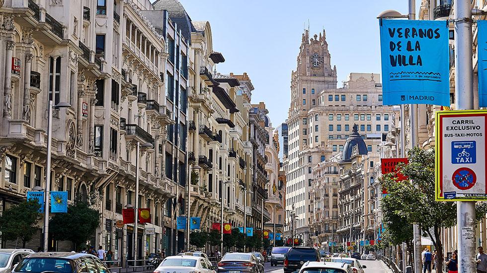 Phố-cổ-Via-Gran-Madrid - Tour Du Lịch Tây Ban Nha