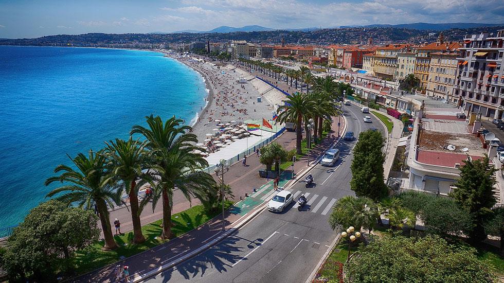Phố đi bộ Promenade des Anglais Nice - Tour Du Lịch Pháp