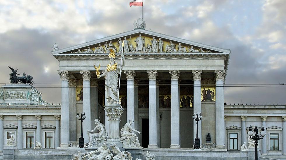 Tòa nhà quốc hội - Du lịch Áo