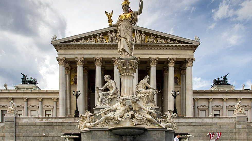 Tòa nhà quốc hội Vienna - Du lịch Áo