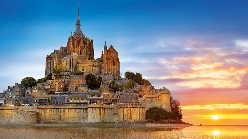 Tu-viện-Le-Mont-St - Tour Du Lịch Pháp (1)