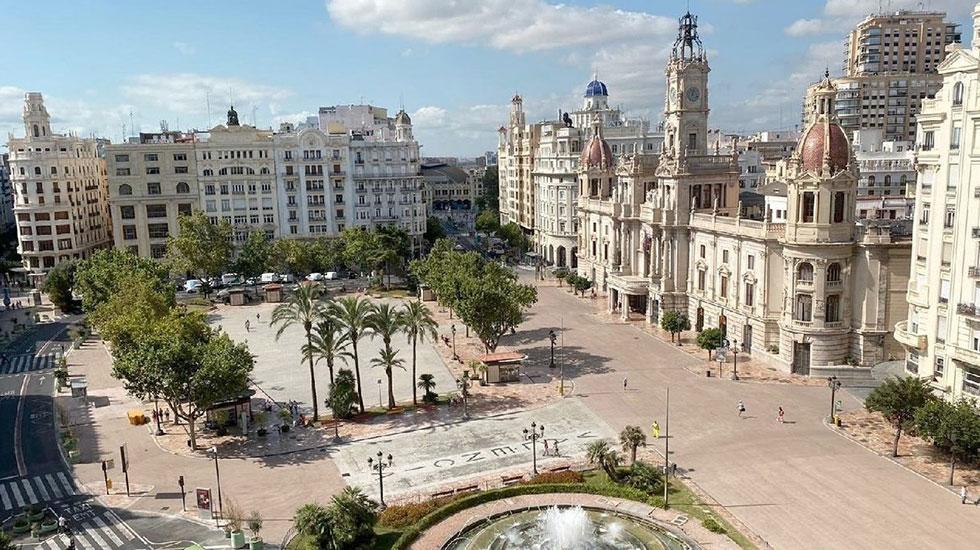 Valencia-plaza - Tour Du Lịch Tây Ban Nha