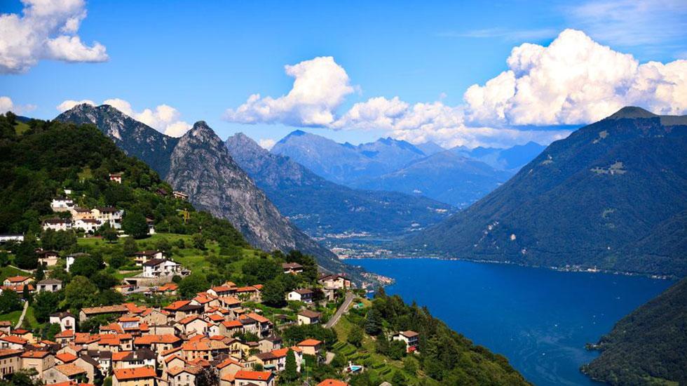 Vịnh Lugano - Tour du lịch Thụy Sĩ giá rẻ