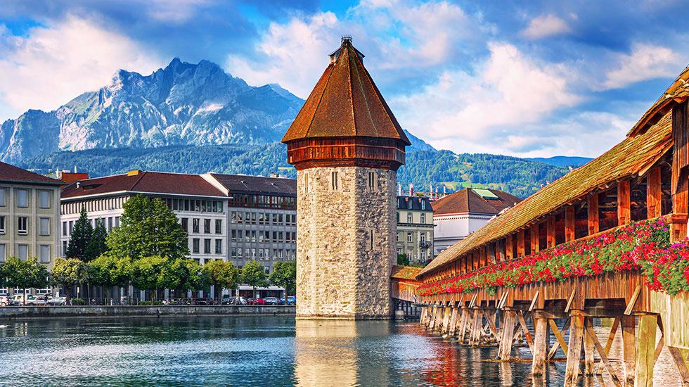 Chiếc cầu Chapel - Du lịch Thụy Sĩ