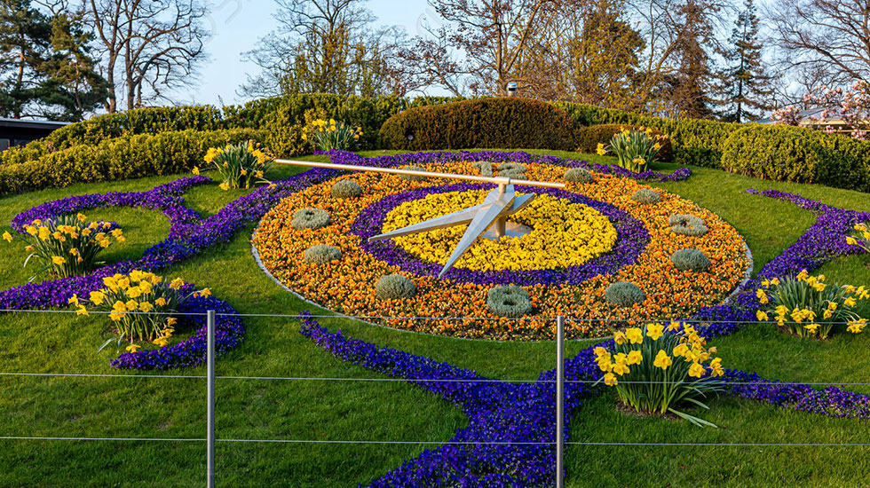 Flower Clock - Du lịch Thụy Sĩ