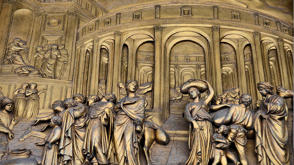 Italy-Florence-Joseph-Door-Panel-Gates-of-Paradise-Florence-Baptistery - Tour Du Lịch Ý