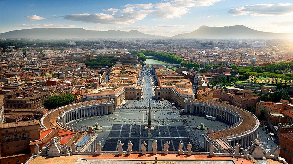Italy_Rome_Vatican_From_above_Town_square - Tour Du Lịch Ý