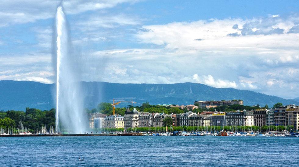 Jet d'eau - Du lịch Thụy Sĩ