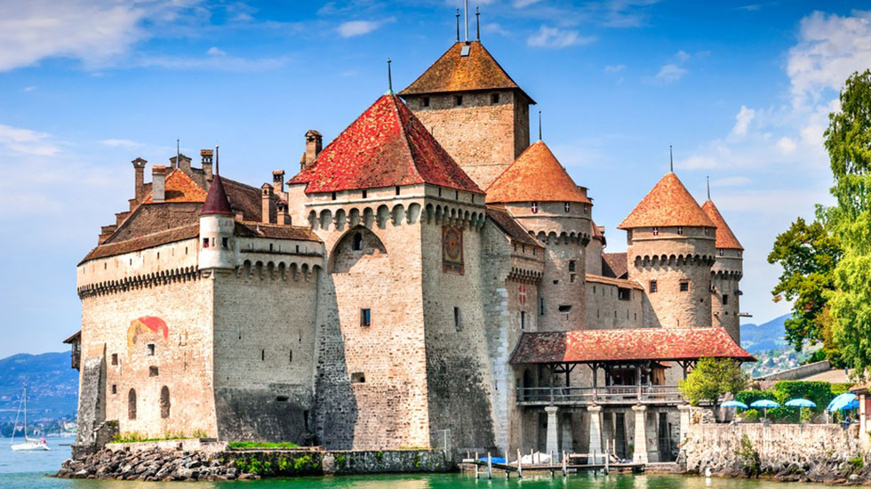 Lâu đài Chillon - Du lịch Thụy Sĩ