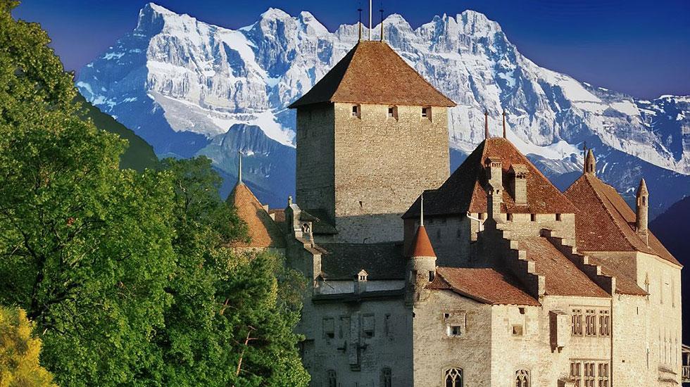 Lâu đìa Chillon - Du lịch Thụy Sĩ