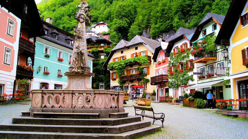 Quảng trường chợ cổ Markplatz - Du lịch Áo