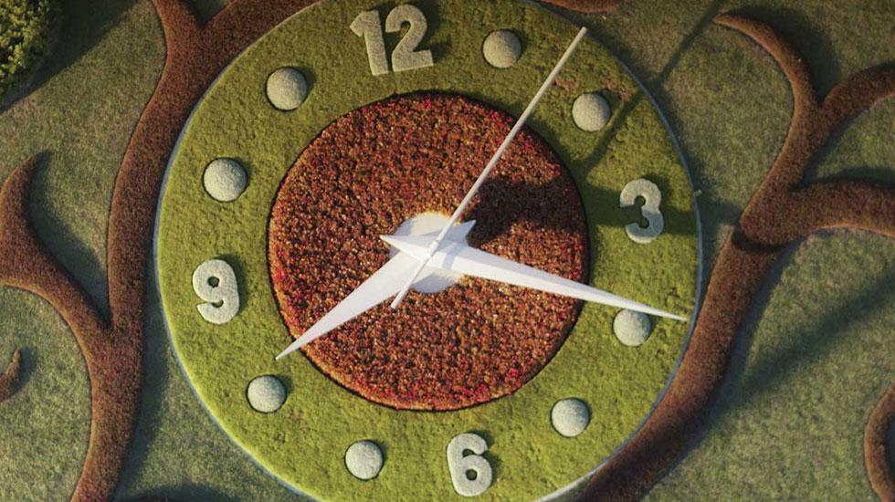 Chiếc đồng hồ hoa khổng lồ - Du lịch Thụy Sĩ