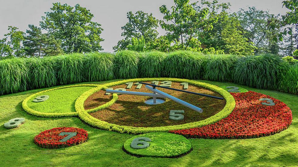 Flower Clock-Du lịch Thụy Sĩ