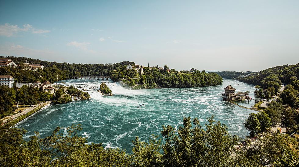 Thác nước Rhine Falls - Du lịch Tây Âu